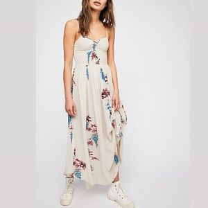 NOT AVAILABLE Beau smocked floral maxi dress